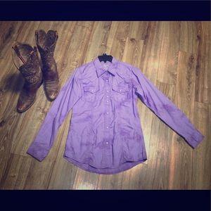 Wrangler Rock 47 lavender shirt